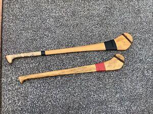 2 Wooden Vintage Hurling Sticks