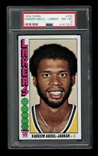 1976 Topps BKB Card #100 Kareem Abdul-Jabbar Los Angeles Lakers PSA NM-MT 8 !!!!