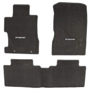 Genuine Gray Carpet Floor Mat Set NEW For Honda Civic Sedan 4-Door 2006-2011