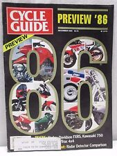 Cycle Guide Magazine December 1985 Motorcycle Motocross Kawasaki 750 Harley