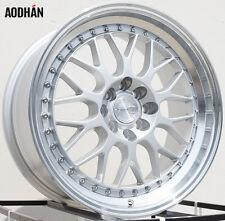 AODHAN AH02 17x8 4x100 / 4x114.3 +35 Silver Machined Lip (PAIR) wheels
