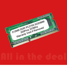 512MB DDR 333MHz PC2700 200pin SODIMM LAPTOP MEMORY