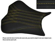 GRIP DESIGN 4 YELLOW ST CUSTOM FITS KAWASAKI NINJA ZX6R 09-15 FRONT SEAT COVER