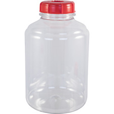 FerMonster Plastic 3 Gallon PET Wide Mouth Carboy with Stopper & Airlock