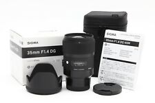 Very Clean Sigma 35mm f1.4 DG HSM Art Lens for Sony E with Hood & Box #34374