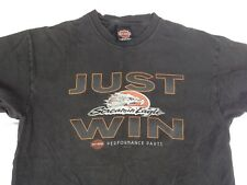 Vtg Screamin Eagle Just Win 2001 Harley Davidson T Shirt Motorcycle Poconos