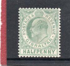 Gibraltar EV11,1906-11  1/2d blue-green sg 66 HH.Mint