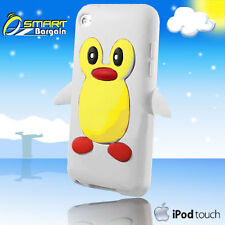 3D CUTE PENGUIN White SILICONE SKIN CASE FOR COVER IPOD TOUCH 4th Gen 4G + SP