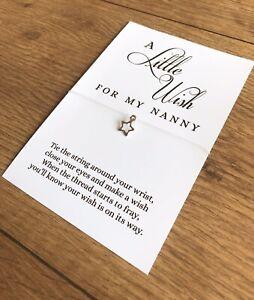 Cute A Wish For My Nanny Gift Charm Wish Bracelet Gift Keepsake