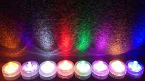 NEW SUBMERSIBLE BATTERY OPERATED LED TEA LIGHTS FLORAL VASE WATERPROOF WEDDING