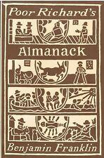 Poor Richard's Almanack by Benjamin Franklin 1980 Hardcover Reference Book