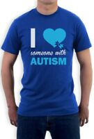 Autism Awareness - I Love Someone With Autism T-Shirt Support