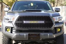 Custom Steel Aftermarket 120W LED Light Bar Grille for 2016-17 Toyota Tacoma TRD