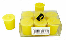 6 x Yellow Votive Candles - Unscented