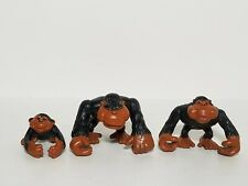 Vintage 1995 Fisher Price Animal Families Monkey Gorilla Figures, Complete Set