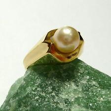 FANTASTICO ANELLO IN ORO 48 (15,3 mm Ø ) 333/8k Anello oro con perle