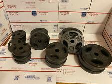 "CAP Cast Iron Standard 1"" Grip Weight Plates 2.5LB 5LB 10LB sets pairs CHOOSE"