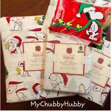 Pottery Barn Kids 4Pc ~Peanuts~ Cotton F/Q Duvet, 2 Shams & Pillow ~Snoopy~ �