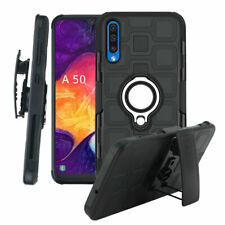 For Samsung A10 A30 A50 A70 Armor Ring Holder Holster Belt Clip Case Back Cover