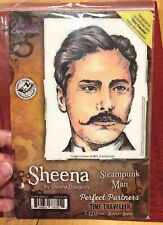 Crafters Companion Sheena D. STEAMPUNK MAN Time Traveler EZ Mount Rubber Stamp
