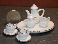 Dollhouse Miniature Tea Set 8p Teapot Plates 1:6 Barbie scale K16 Dollys Gallery