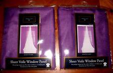 SHEER VOILE WINDOW PANELS PAIR 59 X 84 PURPLE BY GAMBRIDGE CLASSICS NEW IN BAG