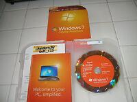 Microsoft Windows 7 Home Premium Upgrade Family Pack For 3 PCs 32 & 64 Bit DVDs
