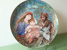 """Edna Hibel """"The Flight Into Egypt"""" 1987 Christmas Plate - Third in Series"""