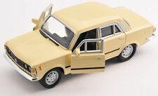 Spedizione LAMPO FIAT 125 P Beige Welly Modello Auto 1:34 NUOVO & OVP