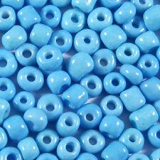 Perles de Rocailles en verre Opaque 4mm Bleu Ciel 20g (6/0)