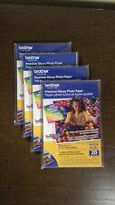 4-PACK NEW Brother BP61GLP Innobella 4x6 Glossy Premium Photo Paper 80 Sheets