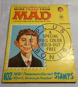 MAD MAGAZINE ANNUAL # 7 MORE TRASH FROM MAD 1964 Alfred E Neuman Commemorative