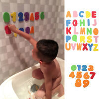 36 PCS Bath Learn Letters & Numbers Stick Floating Baby Kids Bathroom Water Toys