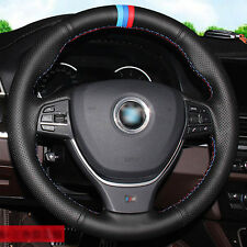 Top Leather Steering Wheel Hand-stitch on Wrap Cover For BMW F10 3 Series