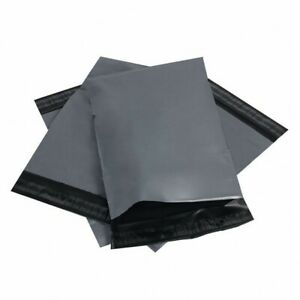 """13 x 19"""" Grey Plastic Mailing Bags Poly Postage Postal Post Self Seal Pck of 100"""