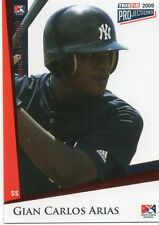 GIAN CARLOS ARIAS 2009 TRISTAR PROJECTIONS BRONZE ROOKIE CARD 5/5