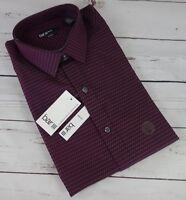 NEW Bar III Men's Slim Fit Mini-Square Dobby Dress Shirt Merlot 15-15 1/2 $57.50