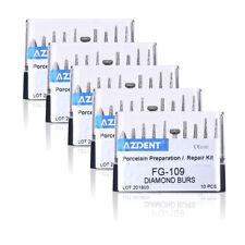 HOT 5X Dental High Speed FG-109 Diamond Burs Porcelain Preparation Repair