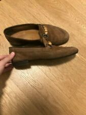 Gucci Suede Bamboo Bit Loafer. US Size 10.5