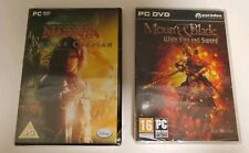 Lot of 2 MOUNT & BLADE: Fire & Sword + Narnia Prince Caspian SEALED (PC Games)