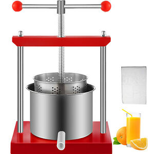 0.53 Gallon Stainless Steel Fruit Press Wine Juice Cider Cheese Sausage Tincture