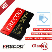 256GB Ultra Micro SD Memory Card Class10 4K SDHC SDXC TF Flash Card with Adapter