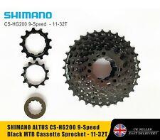 SHIMANO ALTUS CS-HG200 9-Speed Black MTB Cassette Sprocket - 11-32T