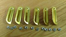 1957 CHEVY GOLD FENDER LOUVERS set of 6  with hardware