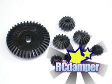 HARD STEEL DIFF DIFFERENTIAL RING & BEVEL GEAR 8PC TAMIYA TT02 TT-02 TT02B TT02D