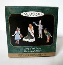 Hallmark Keepsake Wizard Of Oz Ornaments Miniature Set of 4 - King Of The Forest