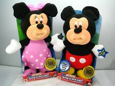 RARE NEW Disney SING A MA JIGS MICKEY MINNIE MOUSE TOTY 2011 ClubHouse DOLL LOT