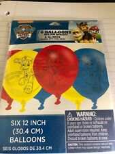 PAW Patrol 12 inch Helium Quality Latex Balloons (6 pack) - 111462