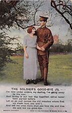 POSTCARD  SONG  CARDS    The  Soldier's  Good - Bye  (1)