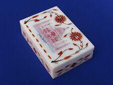 Taj Mahal Jewelry Box Pietra Dura White stone Handmade Arts Craft